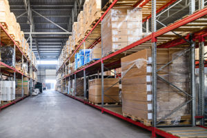 Inside view of Arrow Transfer and Storage's warehouse space